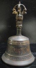 ◆チベット密教法具 ガンター(金剛鈴)アンティークブラック