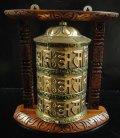 ◆チベット密教法具◆マニ車◆壁掛け-G1
