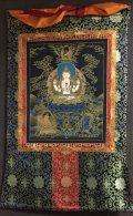◆六字咒観音菩薩タンカ/仏画/チベット-A2