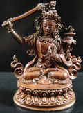 ◆文殊菩薩(マンジュシュリー)像◆仏教 チベット アンティーク風-SA