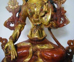 画像3: ホワイトターラー(白多羅菩薩)像◆仏教 チベット
