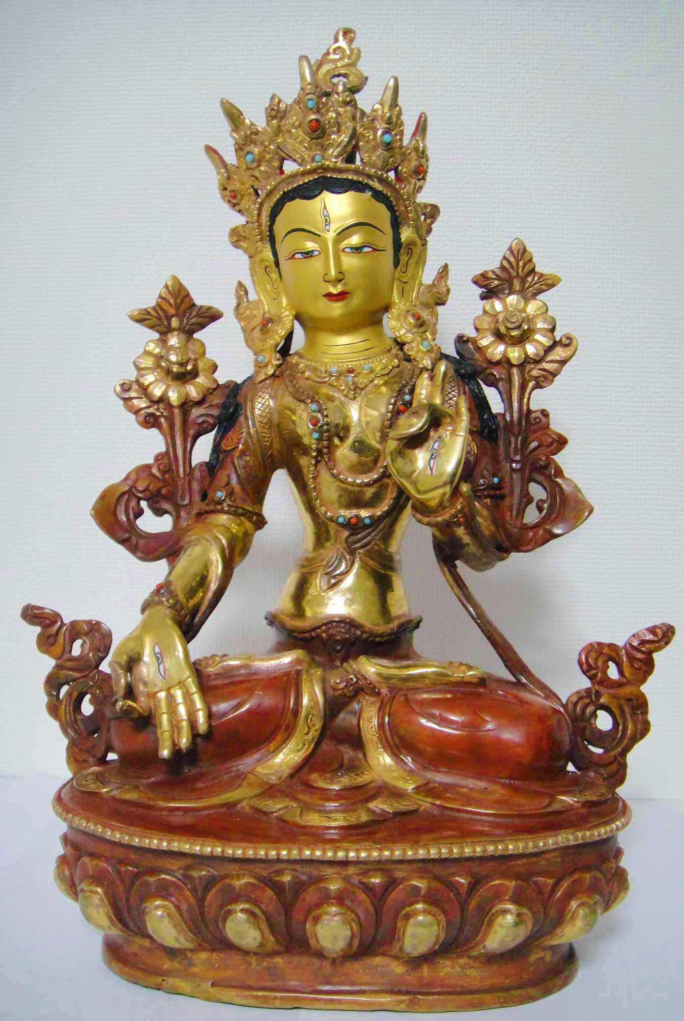 ホワイトターラー(白多羅菩薩)像◆仏教 チベット