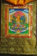 ◆文殊菩薩(マンジュシュリー)タンカ/仏画/曼荼羅/チベット-2