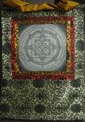 ◆カーラチャクラ・マンダラ(時輪曼荼羅)タンカ/仏画/チベット-2