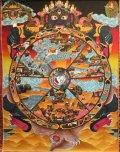 ◆六道輪廻図(Wheel of Life)/タンカ/仏画/曼荼羅/チベット-AA