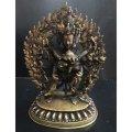 ◆チャクラ・サムヴァラ(最勝楽)像◆アンティーク風/仏教 チベット