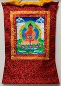 ◆無量光如来(あみだにょらい/アミターバ)タンカ/仏画/曼荼羅/チベット2