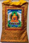 ◆阿閦如来(あしゅくにょらい/アクショービャ)タンカ/仏画/曼荼羅/チベット