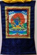 ◆ヴァジュラ・パーニ(金剛手)タンカ/仏画/曼荼羅/チベット-1
