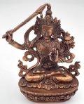 ◆文殊菩薩(マンジュシュリー)像◆仏教 チベット ◆アンティーク風-AZ