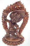 ◆ヴァジュラ・パーニ(金剛手)像◆仏教 チベット ◆アンティーク風-AZ