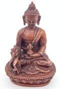 ◆薬師如来(メディスンブッダ)像◆仏教 チベット ◆アンティーク風-AZ