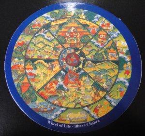 画像1: ◆六道輪廻図(Wheel of Life)チベット密教曼陀羅ステッカー 1 ■