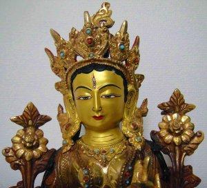 画像2: ホワイトターラー(白多羅菩薩)像◆仏教 チベット